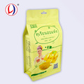 Safe Material Plastic Colored Flat Bottom Zip Seal Bags For Food Packaging