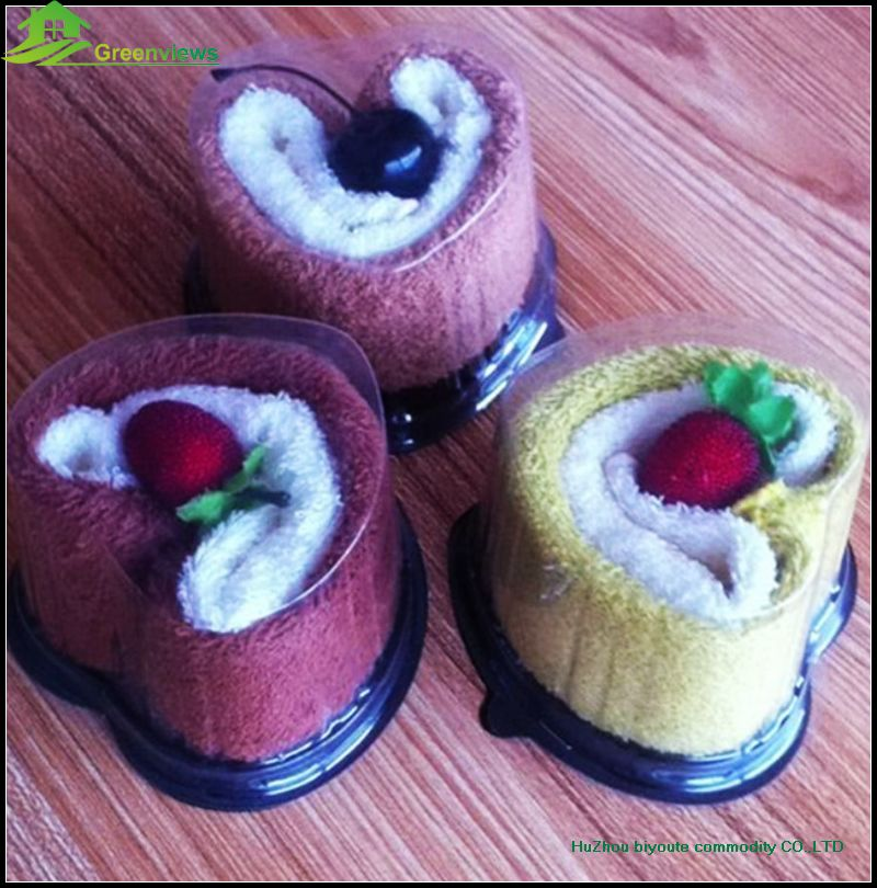 Wholesale Gift Towel Cake Souvenir gifts swiss roll towels cake embroidered towel