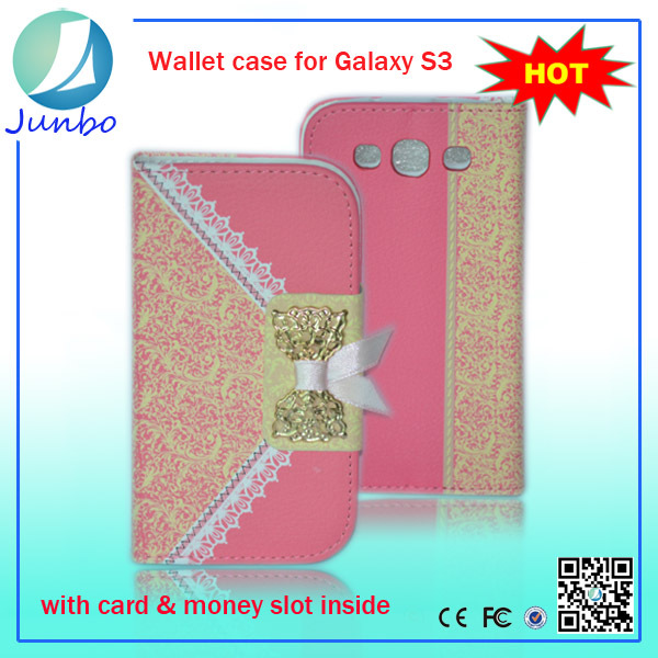 2015 Stylish flip leather transformers case for samsung galaxy s3