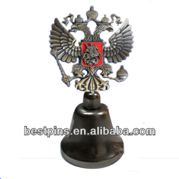 Antique Gold Russian Double Eagle Headed National Emblem Alloy Dinner Bell Design
