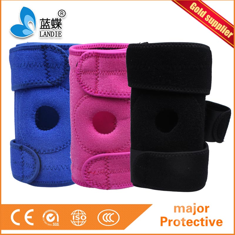 Breathable Knee Brace and Support, Pre-molded and wrap around design, One Size