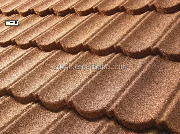 zinc aluminum specially processed metal tile stone metal roofing tile