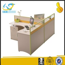 Commecial t shaped office desk used glass partitions computer table in pakistan