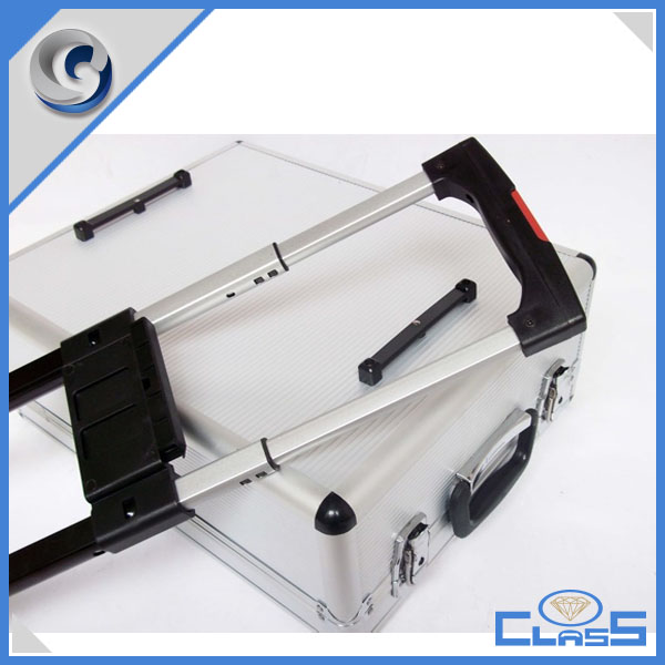 Wheeled trolley Aluminum Travel Bags Luggage Set Beauty Flight Box Heavy Duty Trollery Luggage Carrying Case