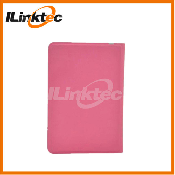 9.7inch Ultra thin Pink leather case bluetooth keyboard for ipad 2 3 4