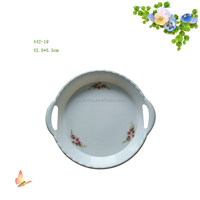 Decorative Beautiful Design Melamine Plastic Fruit Tray With Handle