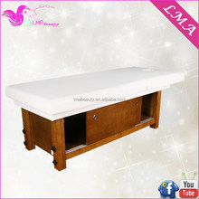 Design custom wood facial massage table with storage