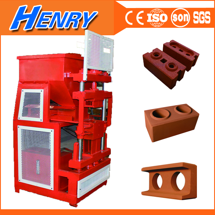 Siemens HR2-10 interlocking clay brick making machine sale in Kenya, hydraulic soil brick making machine