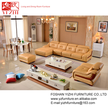 latest design hall sofa Furniture/ modern style Combination leather Corner sofa