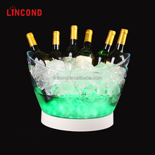 Good Quality LED Plastic Ice Bucket With Base For Beer And Wine Cooler