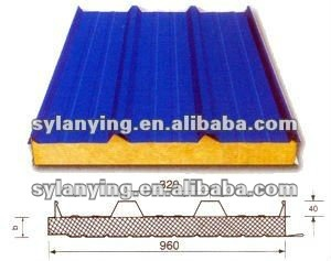 stainless galvanized rockwool sandwich roof panel