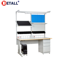 Detall lab work table for researching