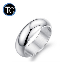 Classic simple high polished blank 925 sterling silver ring for men