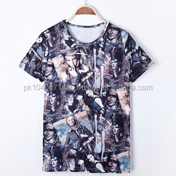 Custom 2014 Men's Fashion Sublimation T Shirt of Beautiful Women/ High Qulaity Street wear Fashion Sublimation PrintedTshirt