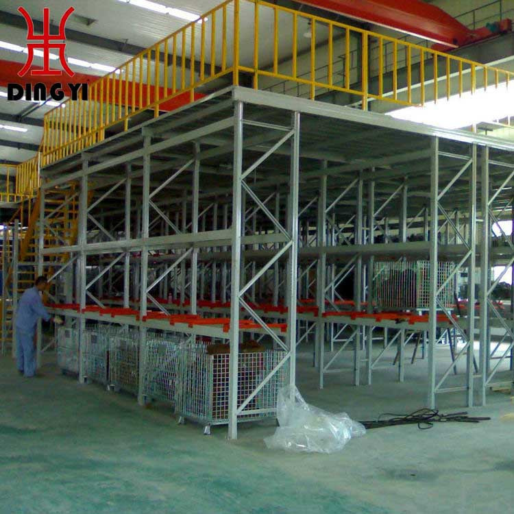 Warehouse storage racks metal mezzanine platform