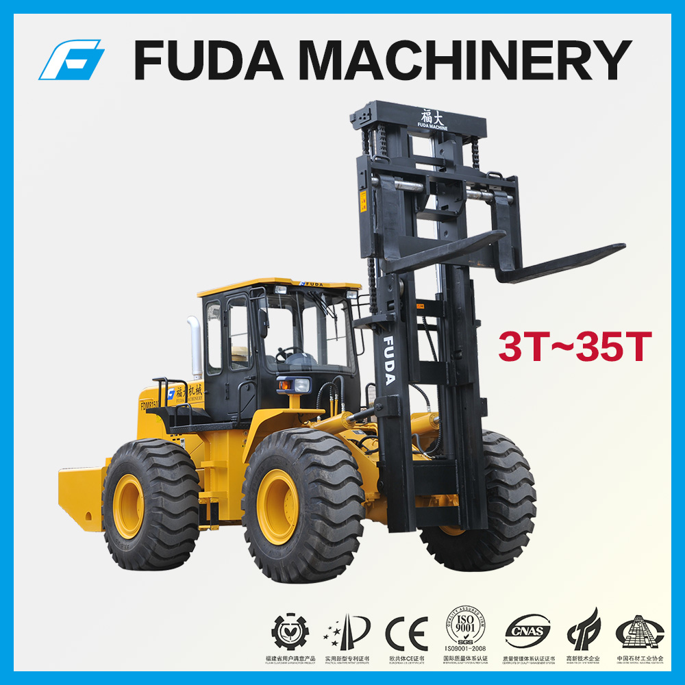 15 ton rough terrain forklift with cummins engine