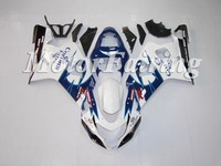 Injection Molded ABS Plastic Bodywork Frame Fairings Kit For Suzuki GSXR 600 750 Blue White GSXR Racing 2004 2005
