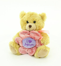 mothers day gifts I love mom soft plush heart toy bear with flower