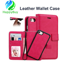 OEM acceptable 5.5 inch leather wallet phone case for iphone 6 protective flip stand wallet leather case cover