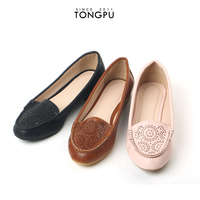 Brand name latest girls fancy flat shoes for women 2015