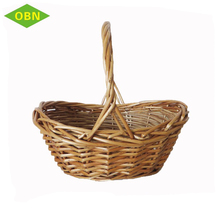 Fruit and vegetable use 2018 new design wholesale cheap handmade small rattan basket