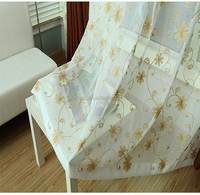 2015 shaoxing embroidery sheer curtain