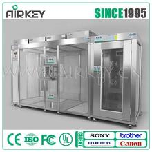 laboratory air shower clean room with stainless steel frame