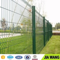 Galvanized low carbon cheap sheet metal fence panels / curvy welded fence