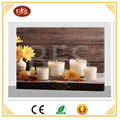 Flower led canvas painting ,yellow flowers lighted canvas for relax.