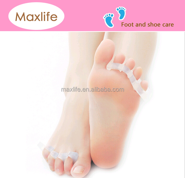 Medical Gel Toe Straightener & Separator Combs toe protector (Clear; One Size Fits Most; Pack of 2)