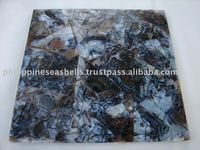 Super deal Black Agate Shell Tiles (Cracking Design)