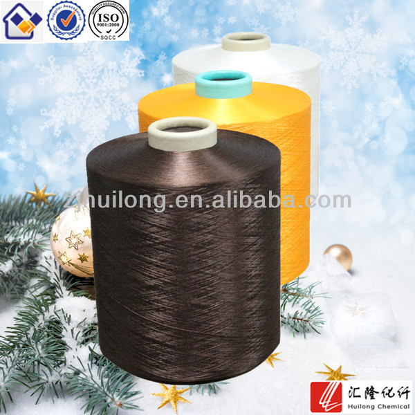 150D DTY yarn polyester dope dyed filament yarn for lace