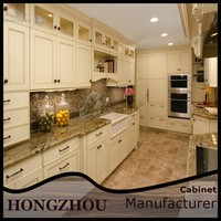 Solid Wood Pre Assembled Kitchen Cabinets from Guangzhou Foshan Factory