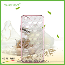 Ultra Slim Luxury Mobile Accessories Production Line Bling TPU Case Electronic Plating Phone Cases Designs for lg