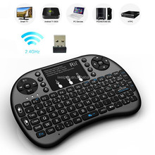 High Quality Mini Keyboard I8+ Mouse 2.4G Wireless Air Flying Mouse KeyBoard French/English/Russian layout