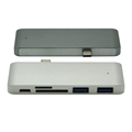 5 in 1 USB C Hub 3.0 Type C Adapter Charging Data Sync Card Reader for MacBook Pro