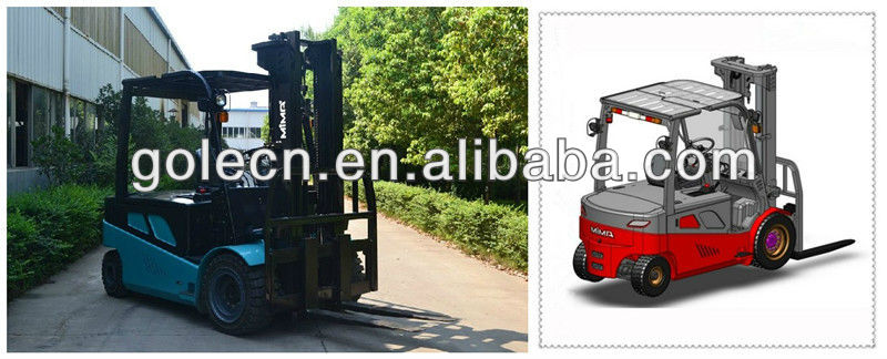 Full AC electric forklift truck TK450-30 Double driving load 5000kg at 3000mm with water-proof technology