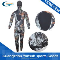 2 pieces long john spearfishing neoprene printing wetsuits with hood
