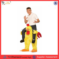 PGMC1136 Adult fancy plush easy wear riding chicken costume Halloween costume