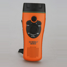 Continue Selling High Quality SORBO Dynamo Torch Flashlight with Siren fm Radio Portable Mobile Phone Charger Light