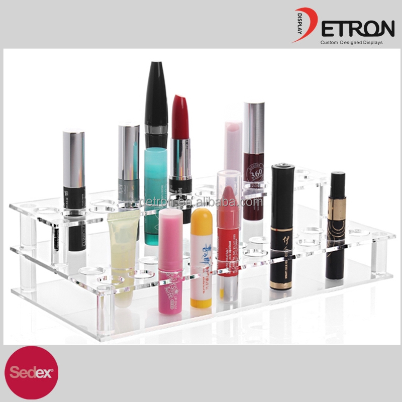 High Quality lipstick holder display stand acrylic makeup organizer