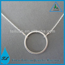 Grace Handmade Forever Circle Silver Karma Necklace