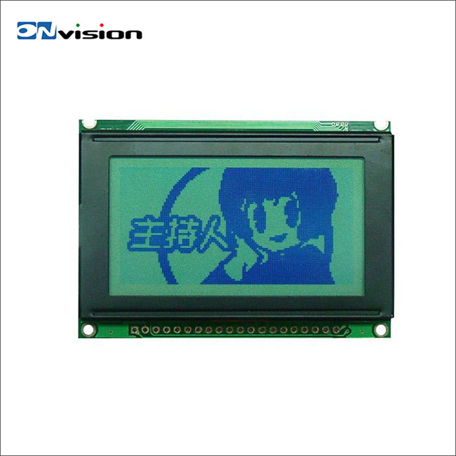High quality monochrome transparent 12864 graphic lcd module