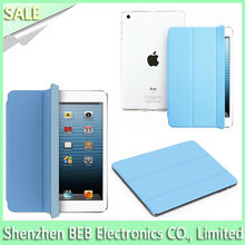 Manufacture 3-fold smart cover for ipad mini with reasonable price