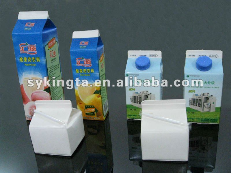 Gable top milk carton