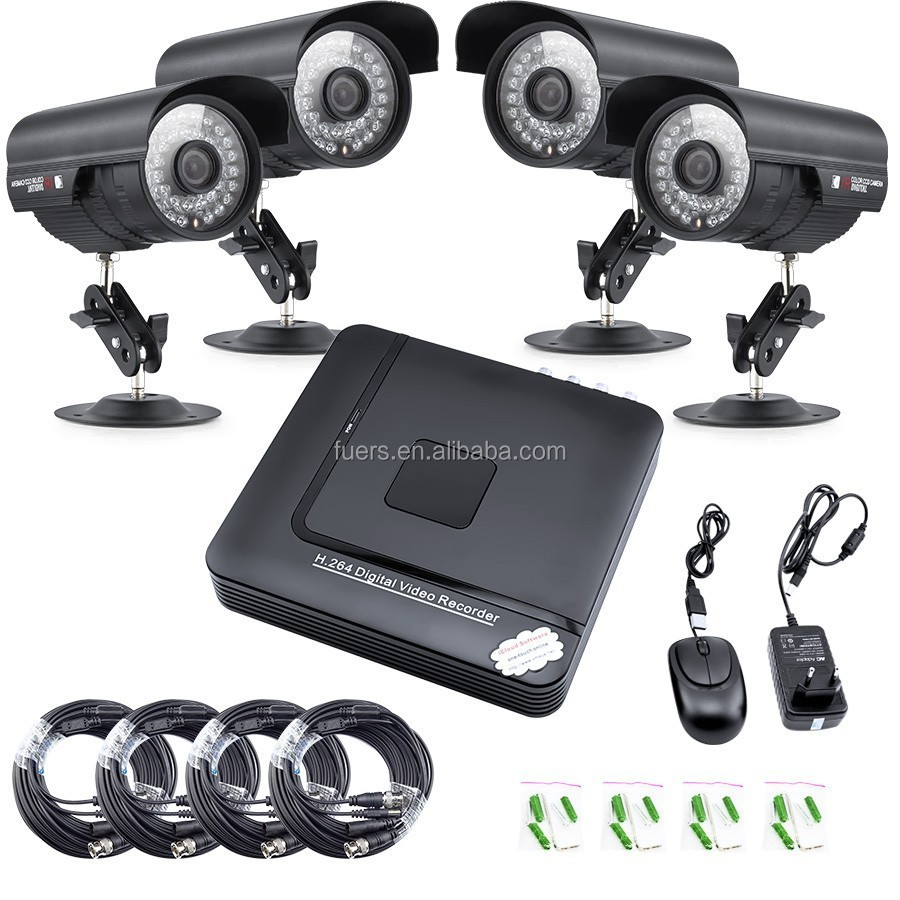 CCTV DVR kit 4x480TVL CCATV outdoor Home Security CCTV Camera NTSC