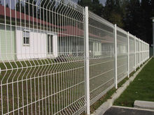 The high quality ISO 9001 powder coated 3d curved bending welded wire mesh fence for construction
