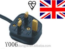 bs1363 a plugs H03VV-F 3x0.75mm2 3pin BS plug to IEC C7 AC UK power cord