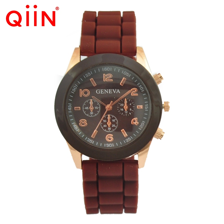 QD0143 Cheap One Dollar silicone rubber otm watches