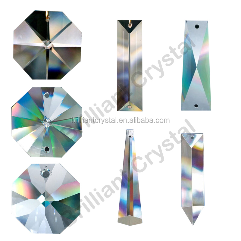 Machine Cut crystal chandelier parts trimming for lamp pendants accessories